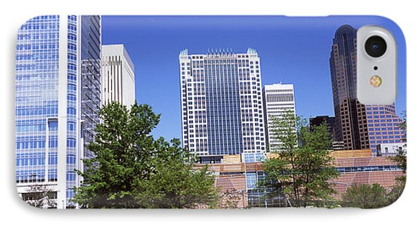 Downtown Modern Buildings In A City IPhone Case by Panoramic Images