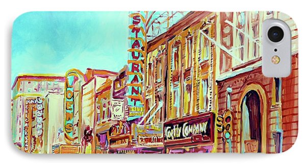 Downtown Montreal IPhone Case by Carole Spandau