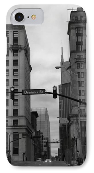 Downtown Nashville In Black And White Phone Case by Dan Sproul