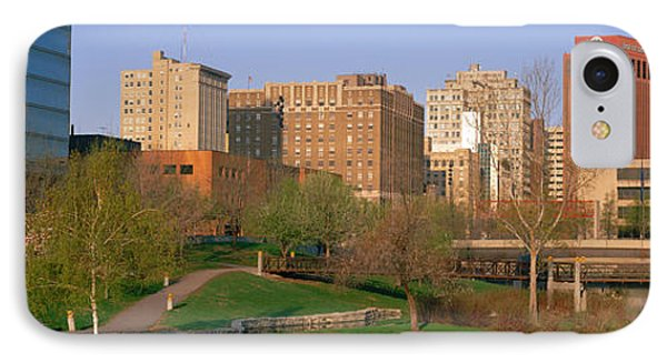 Downtown Omaha Ne IPhone Case by Panoramic Images