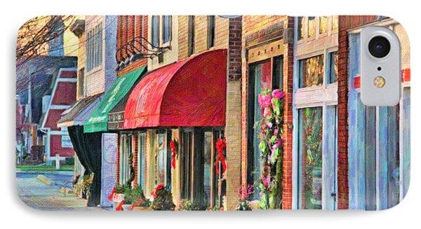 Downtown Perrysburg In December IPhone Case by Jack Schultz