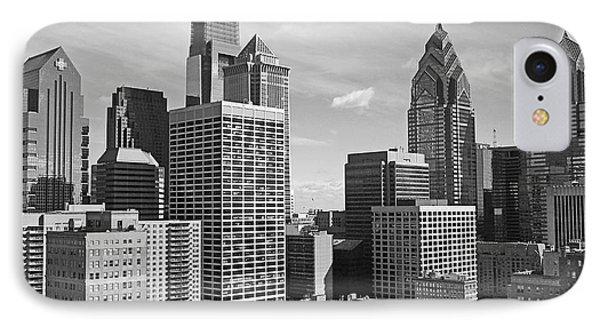 Downtown Philadelphia Phone Case by Rona Black