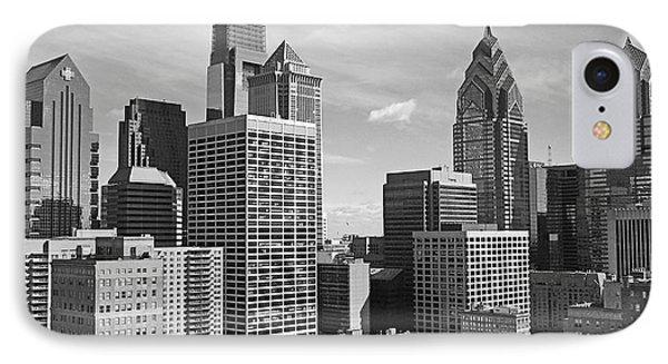 Downtown Philadelphia IPhone Case by Rona Black