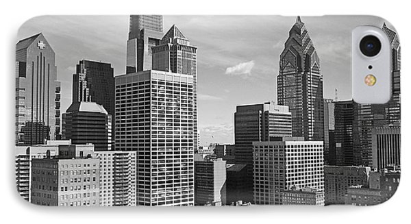 Downtown Philadelphia IPhone Case by Rona Black