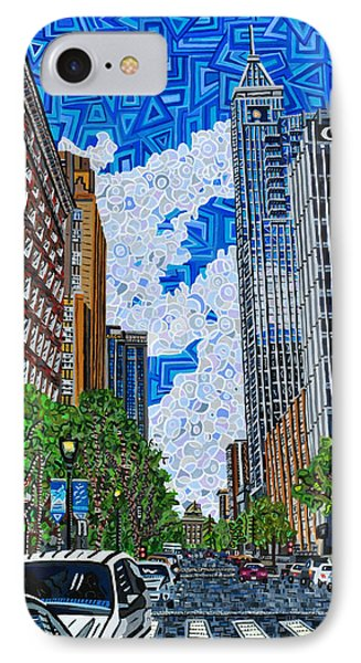 Downtown Raleigh - Fayetteville Street Phone Case by Micah Mullen