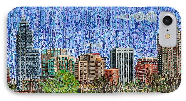 Downtown Raleigh - View From Boylan Street Bridge Phone Case by Micah Mullen