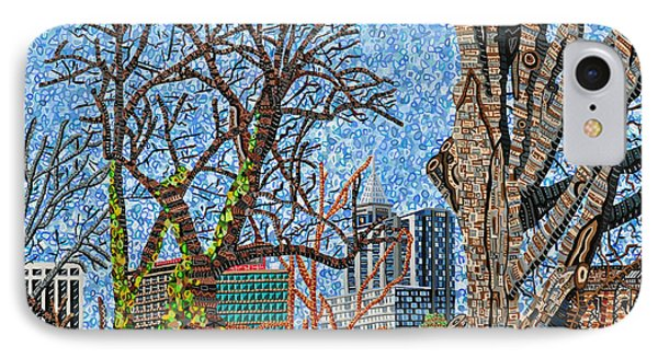 Downtown Raleigh - View From Chavis Park Phone Case by Micah Mullen