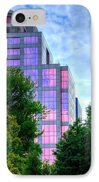 Downtown Reflections 17341 IPhone Case by Jerry Sodorff