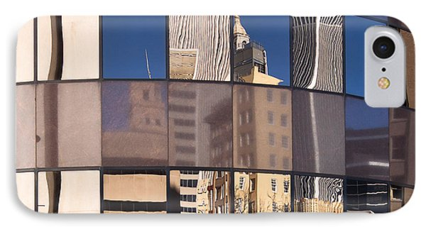 IPhone Case featuring the photograph Downtown Reflections by Lawrence Burry
