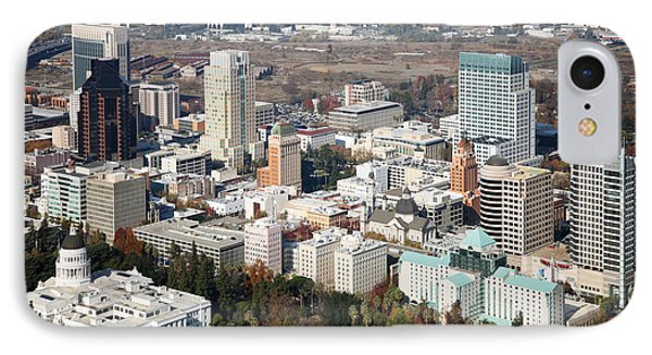 Downtown Sacramento And Capitol Park Phone Case by Bill Cobb