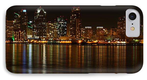 Downtown San Diego At Night From Harbor Drive IPhone Case by Nathan Rupert