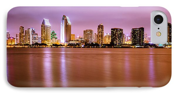Downtown San Diego Skyline At Night Phone Case by Paul Velgos