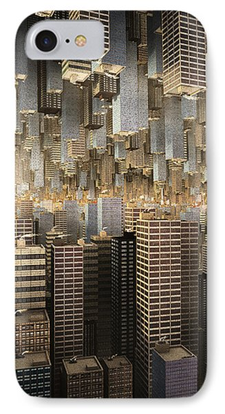 Downtown/uptown IPhone Case by Matt Lindley