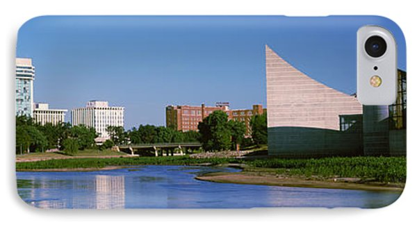 Downtown Wichita Viewed From The Bank IPhone Case by Panoramic Images