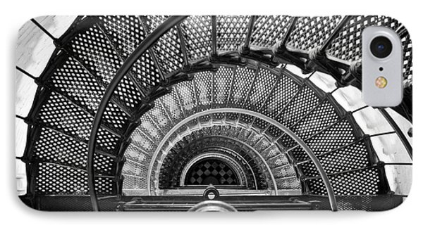 Downward Spiral Bw IPhone Case