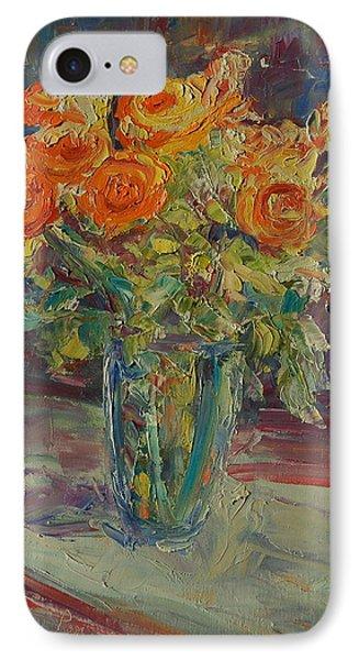 Dozen Orange Roses IPhone Case
