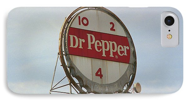 Dr. Pepper Bottle Top IPhone Case by Frank Romeo
