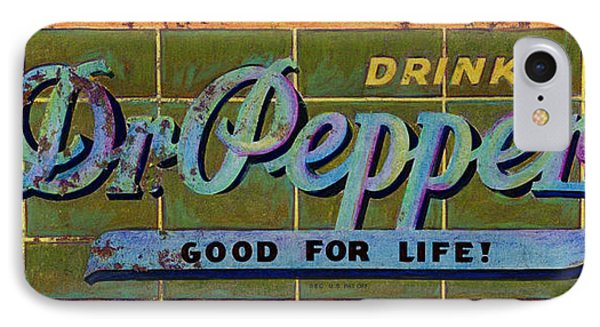 Dr Pepper IPhone Case by Cindy McIntyre