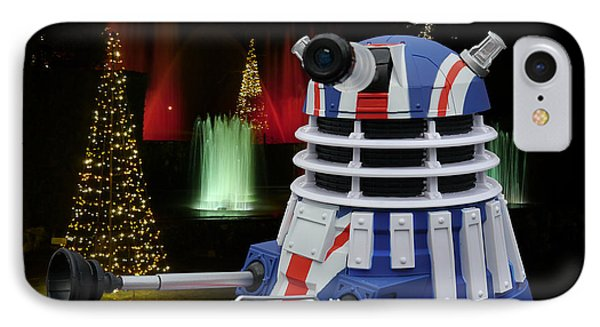 Dr Who - Dalek Christmas IPhone Case by Richard Reeve