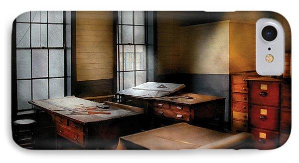 Draftsman - The Drafting Room Phone Case by Mike Savad