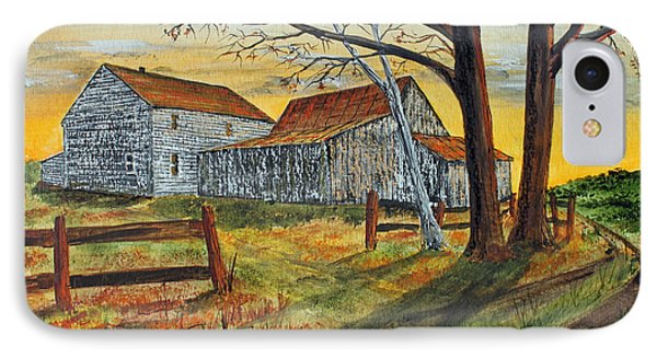 IPhone Case featuring the painting Drafty Old House by Jack G  Brauer