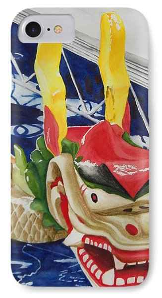 Dragon Boat IPhone Case by Terry Honstead