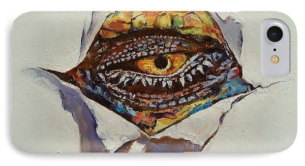 Dragon Eye IPhone Case by Michael Creese