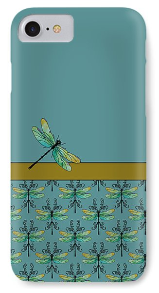 Dragon Fly Nouveau IPhone Case by Jenny Armitage