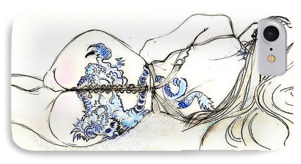 Dragon Girl IPhone Case by Carolyn Weltman