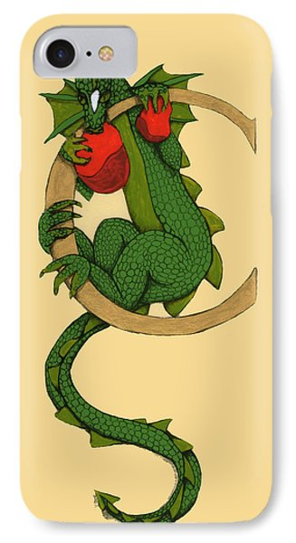Dragon Letter C IPhone Case by Donna Huntriss