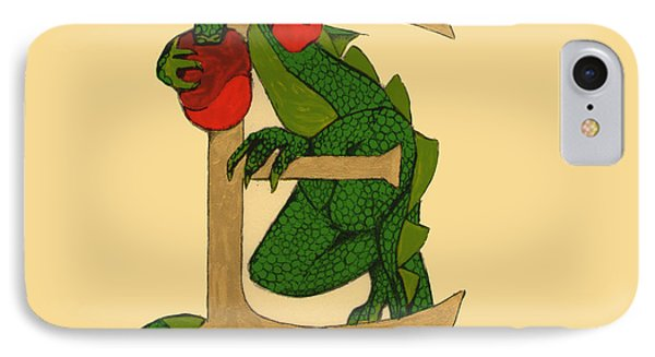 Dragon Letter E IPhone Case by Donna Huntriss