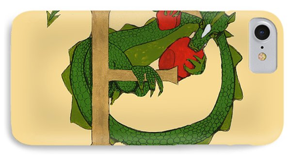 Dragon Letter F IPhone Case by Donna Huntriss