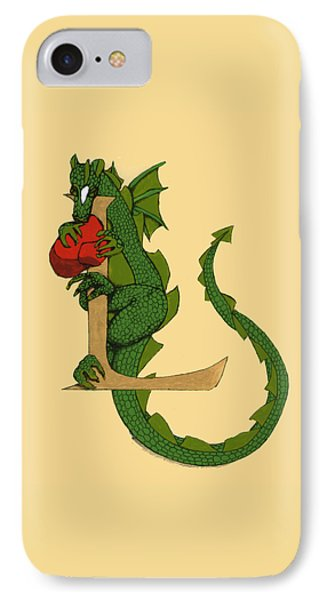 Dragon Letter L IPhone Case by Donna Huntriss