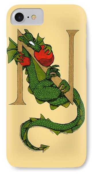Dragon Letter N IPhone Case by Donna Huntriss