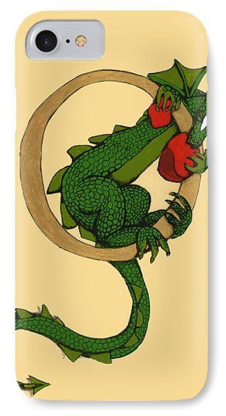 Dragon Letter O IPhone Case by Donna Huntriss