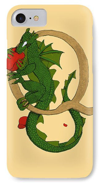 Dragon Letter Q IPhone Case by Donna Huntriss