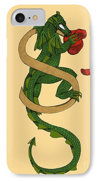 Dragon Letter S IPhone Case by Donna Huntriss