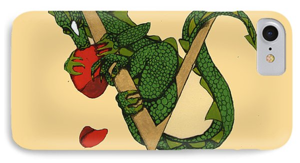 Dragon Letter V IPhone Case by Donna Huntriss