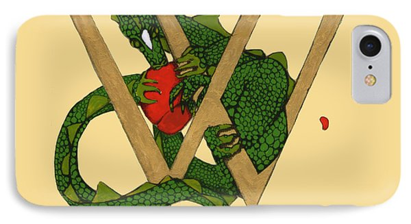 Dragon Letter W IPhone Case by Donna Huntriss