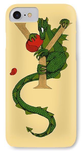 Dragon Letter Y IPhone Case by Donna Huntriss