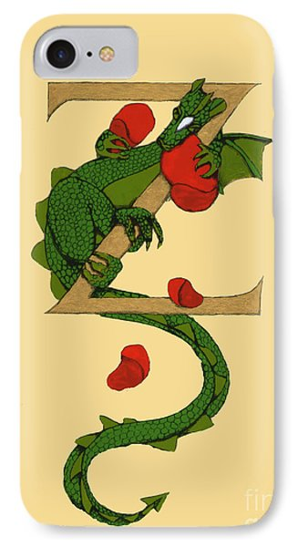 Dragon Letter Z IPhone Case by Donna Huntriss