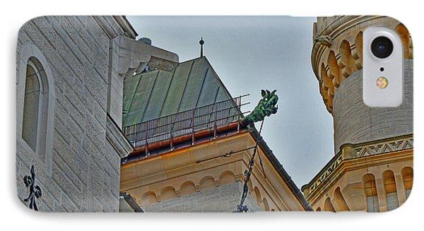 Dragon. Neuschwanstein Castle. Bavaria. Germany. IPhone Case