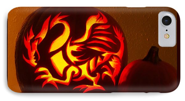 Dragon Light Of Fall IPhone Case by Gem S Visionary