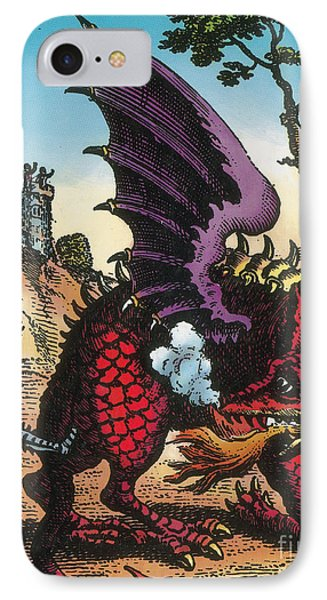 Dragon Of Wantley, 16th Century Phone Case by Photo Researchers