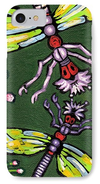 Dragonflies And Water Lilies Phone Case by Genevieve Esson