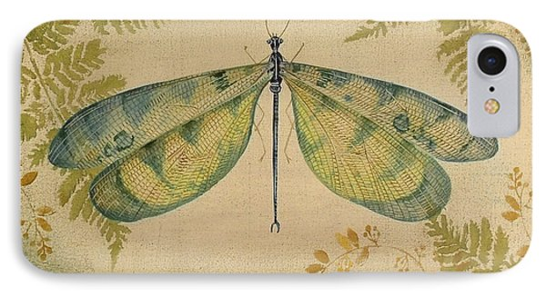 Dragonfly Among The Ferns-1 IPhone Case by Jean Plout
