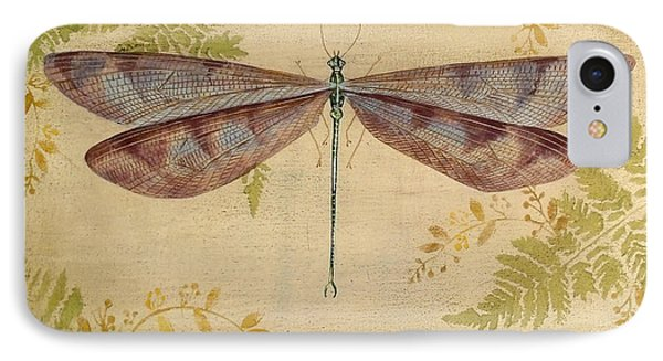 Dragonfly Among The Ferns-3 IPhone Case by Jean Plout