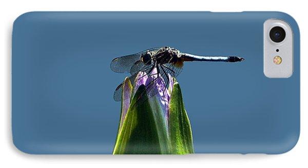 Dragonfly Appreciates A Flower Phone Case by Byron Varvarigos