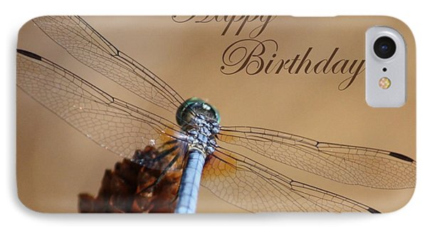 Dragonfly Birthday Card Phone Case by Carol Groenen