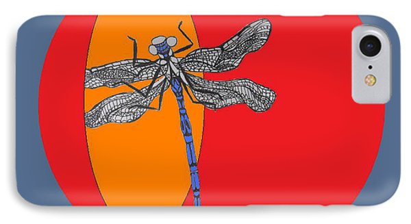 Dragonfly Phone Case by Cherie Sexsmith